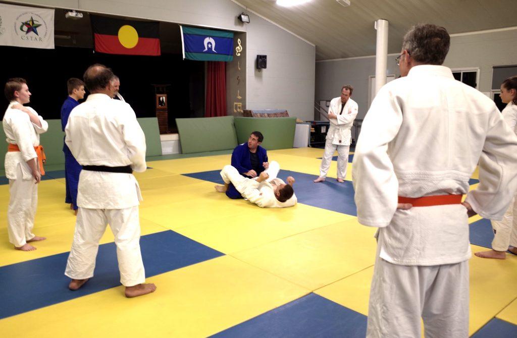 Sensei Jerome instructing the Senior Class
